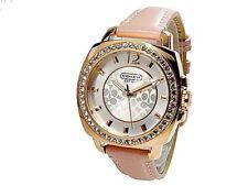 NWT Coach Women's Watch Pink Leather R Gold Glitz Small BOYFRIEND 14501753 $225