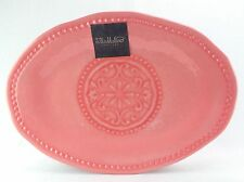 Il Mulino Large Oval Serving Platter Tray Dish Melamine NEW Coral
