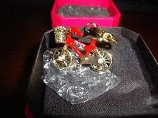 NEW  JUICY COUTURE RED BIKE CHARM FOR BRACELET/NECKLACE