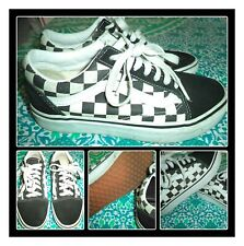 VANS SKATE SHOES BLACK/WHITE CHECKERBOARD OLD SKOOL WOMENS SIZE 5.5 MENS SIZE 4