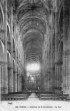 France - Rouen, Interieur de la Cathedrale, La Nef - Postcard Franked 1922