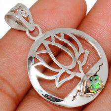 Lotus - Ethiopian Opal Rough 925 Silver Pendant Jewelry AP155609 144T