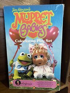 Muppet Babies Colorforms play set 1984 Muppets Kermit Miss Piggy,Jim Henson's