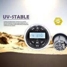 Marine Gauge Style AM/FM Radio Stereo Receiver Media Player USB/AUX/Bluetooth