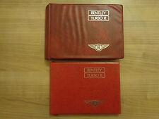 Bentley Turbo R Owners Handbook/Manual and Wallet