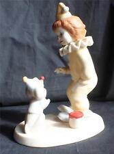 """Vintg 1984 Goebel Porcelain Amerikids Collection """"Little Clowns"""" Figurine Signed"""