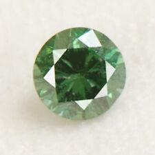 0.12Ct Ravishing Round Shape Natural Green Loose Diamond With Free Certificate