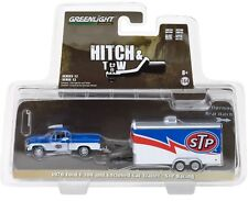 1:64 GreenLight *HITCH & TOW 12* STP 1970 Ford F100 Pickup & ENCLOSED TRAILER