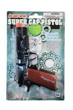 Costume Accessory Halloween Police Pistol Black Diecast Cap  Gun