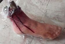NEW Zombie Severed Bloody Foot Filled Foam Latex Halloween Decor