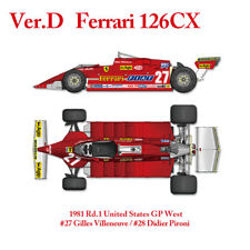 Model Factory Hiro MFH 1/12 Ferrari 126 CX 1981 Rd.1 United States GP West K639