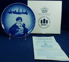 Bing Grondahl 1987 ANNUAL CHRISTMAS PLATE With Box and Certificate A+ CONDITION