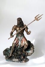 poseidon,bronziert,19x15cm,figur,statue,polyresin,gott,meeresgott,veronese
