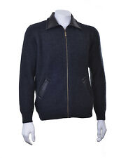 New Zealand Possum Merino Wool Knitwear Lambskin Collar Jacket