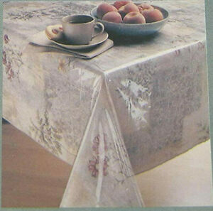 Everyday Luxuries Clear Vinyl Tablecloth Protector By Elrene 70 Round