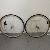 VTG 27 in wheel set Sunshine hubs Araya rims Panaracer tires w/ skewers