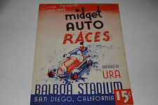 Midget Auto Races Program, San Diego Balboa Stadium, Sept 3 1947, Original