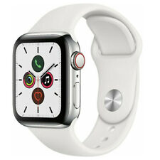 Reloj de Apple serie 5 40mm Gps Celular Banda de Acero Inoxidable Plateado Blanco Sport