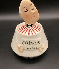 "New ListingRare Htf Holt Howard Jeeves Butler Barware ""Olives If You Please� Condiment Jar"