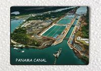 SOUVENIR FROM PANAMA CANAL FRIDGE MAGNET -plo9Z