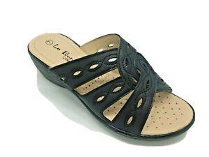 Comfort Women's fashion sandal - DD1601 Black - FREE POSTAGE!!