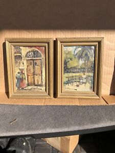 COLLETTE POPE HELDNER New Orleans Listed Artist. Two Paintings!