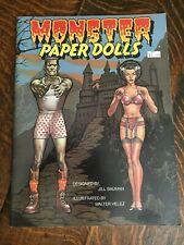 Universal Studios Monsters Paper Dolls Book Frankenstein Uncut/Unused 1983 vtg