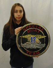 """Naval Special Warfare Unit Special Boat Team 12 all metal Sign 16"""" Round"""