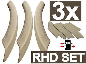 Door Handle Cover SET BMW X5, X6 (RHD) Beige Genuine Leather Pull Handle Covers