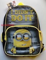 Minions Despicable ME 3 Backpack  School PreSchool Daycare Bag New Boys Kids