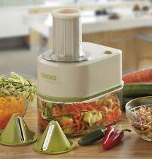 Electric Spiralizer Vegetable Fruit Slicer Cutter Twister 3 Blade Healthy COOKS