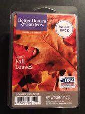 BETTER HOMES & GARDENS Wax Melts CRISP FALL LEAVES *****5 Oz Value Pack*****