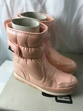 New Mens Snowjoggers Rubber Duck Snow Winter Peach Boots Size 10.5 Sporty Shiny