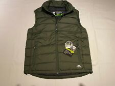 New Mens Trespass Claremont Down and Feather Bodywarmer. Green M. J18-283.