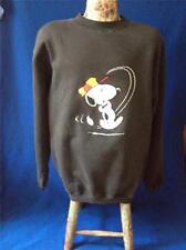 Vintage Peanuts Snoopy Golf Embroidered Bill Ditfort Black XL Sweatshirt Shirt