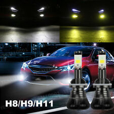 2x 80W H8 H9 H11 LED Fog Light 9600LM DRL Driving Bulb Dual Color 6000K 3000K