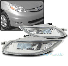 06-10 TOYOTA SIENNA BUMPER DRIVING LED FOG LIGHTS LAMPS CHROME W/WIRING HARNESS