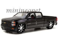 Jada Just Trucks 97026 2014 Chevy Silverado Pick Up Truck 1/24 Custom Black