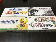 FinalFantasy IV,V,VI & ChronoTrigger Japan SuperFamicom SNES BOX and Manual FTH