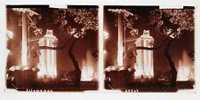 PARIS Exposition universelle 1937 Pavillon Allemagne Plaque verre stéréo positif