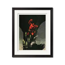 Hellboy Urban Comic Art Poster Print 0648