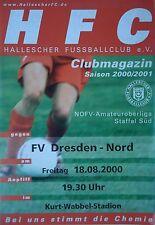 Programm 2000/01 HFC Hallescher FC - Dresden Nord