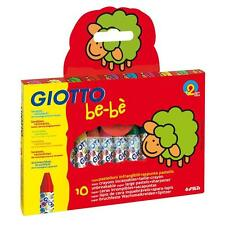 Giotto Be-Be Washable Super Large Jumbo Unbreak Crayons Pk 10