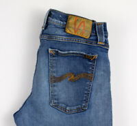 NUDIE JEANS Herren supereng Kim Schmal Stretch Distressed Größe W30 L32 ALZ218