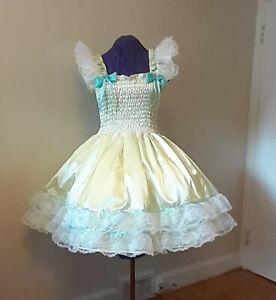 Sundress Satin Pink Lolita Sissy Adult Baby Dress Aunt D