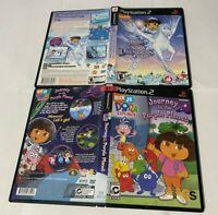 Dora The explorer Snow Princess Journey Purple Planet Lot PlayStation 2 PS2 CIB
