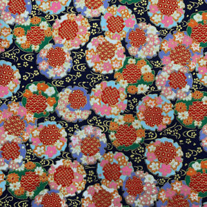 Japanese Cotton Fabric Bronzing Flower Wind Patchwork Clothing Bag Sewing DIY