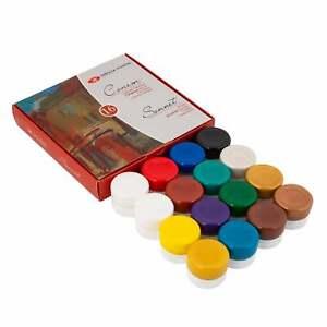 Gouache Paint SONNET® Colors Set Artist Craft 16x20ml RUSSIA Russian