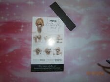 (1) ONE PONY-O Hair Tie Band Clip NEW! **Black Onyx**