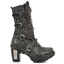 NewRock NEW ROCK NEOTR045-S1 BLACK LADIES TRAIL GOTHIC ROCK PUNK LEATHER BOOTS